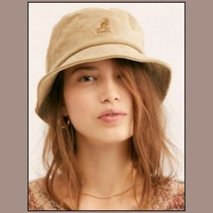 Kangol x Free People Beige Corduroy Bucket Hat NWT